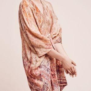 Anthropologie Neeru Kumar Tie-Dyed Wool Tunic